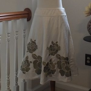 INC white a-line skirt size 2